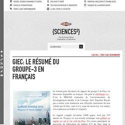 Giec: le résumé du groupe-3 en français