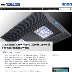 Giesemann's new Verve LED fixture will be released next week