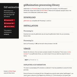 gifAnimation processing library