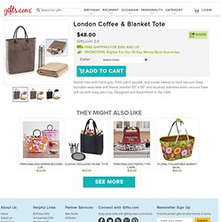 London Coffee & Blanket Tote