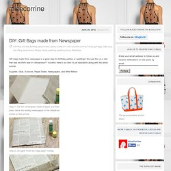 DIY: Gift Bags made from Newspaper « alicecorrine