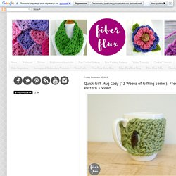 Quick Gift Mug Cozy (12 Weeks of Gifting Series), Free Crochet Pattern + Video