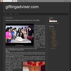 giftingadviser.com: Planning The Perfect Surprise Party For Your Wife