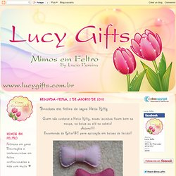 Lucy Gifts: Broches em feltro de laços Hello Kitty