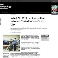 Gigabit-Per-Second Wireless Tested in New York