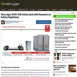 Tesla signs $200-300 million deal with Panasonic on battery Gigafactory