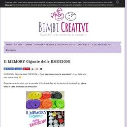 Il MEMORY Gigante delle EMOZIONI - Bimbi Creativi