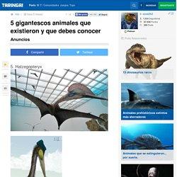 5 gigantescos animales que existieron y que debes conocer