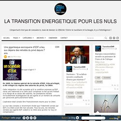 accord CGT/ÉTAT/EDF gigantesque escroquerie