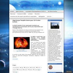 Gigantesque Tempête Solaire pour 2013 selon la NASA
