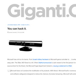 GigantiCo - The blog of Chris Grayson, Digital Creative Strategist - .. - You can hack it.