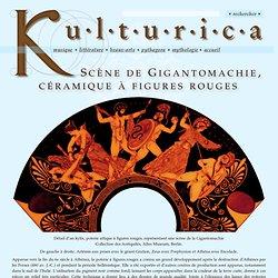 Scène de Gigantomachie, céramique à figures rouges