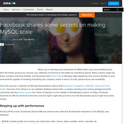 Facebook shares some secrets on making MySQL scale — Cloud Computing News