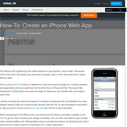 How-To: Create an iPhone Web App