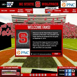 NCSU Wolfpack Gigapixel - presented by PNC Bank - powered by Blakeway Panoramas and Fancam