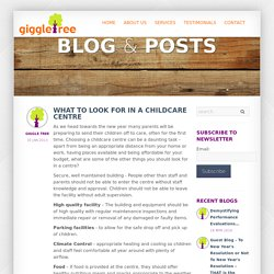 Giggletree - What to look for in a childcare centre