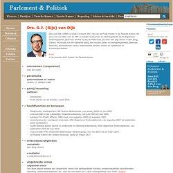 Drs. G.J. (Gijs) van Dijk - Parlement & Politiek