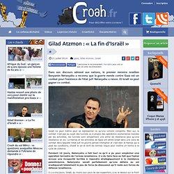 Gilad Atzmon : «La fin d'Israël»