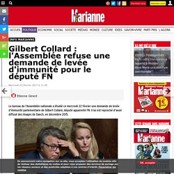 Gilbert Collard : l'Assemblée refuse une demande de levée d'immunité pour le député FN