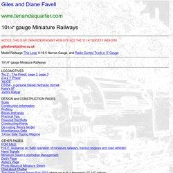 "Giles Favell - 10 1/4"" Gauge Railways"