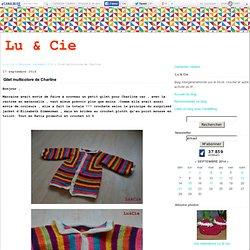 Gilet multicolore de Charline - Lu & Cie