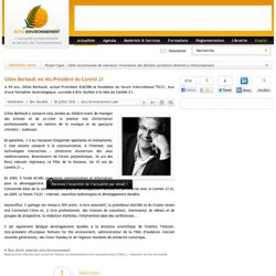 Gilles Berhault est élu Président du Comité 21
