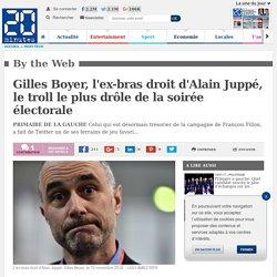 Gilles Boyer, l'ex-bras droit d'Alain Juppé, le troll le plus drôle de la soirée électorale