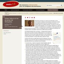 Gilles Sahut et les arcanes de Wikipédia
