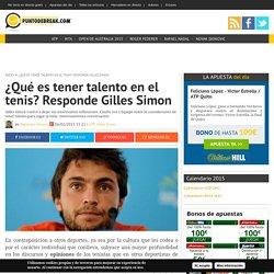 Gilles Simon y el debate sobre el talento