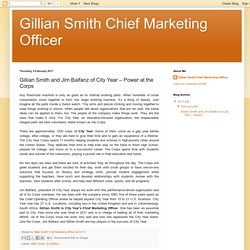 Gillian Smith Chief Marketing Officer: Gillian Smith and Jim Balfanz of City Year – Power at the Corps