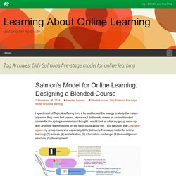 Gilly Salmon's five-stage model for online learning