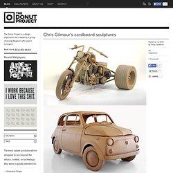 Chris Gilmour's cardboard sculptures