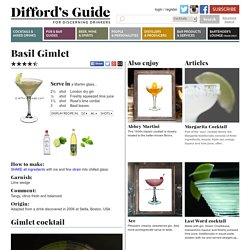 Basil Gimlet Cocktail Recipe