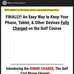 Gimme Charge Golfshot