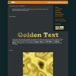 Golden Text Tutorial