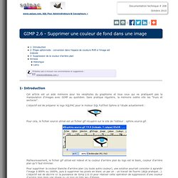 GIMP 2.6 - Supprimer une couleur de fond dans une image