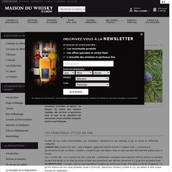 Gin - Le guide du gin - Classification