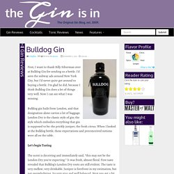 Gin Reviews: Bulldog Gin