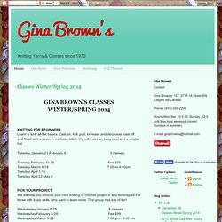 Gina Brown's - Knitting Yarns & Classes