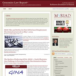 Genomics Law Report