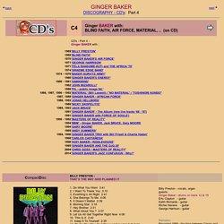 Ginger Baker - Discography - CD Part 4