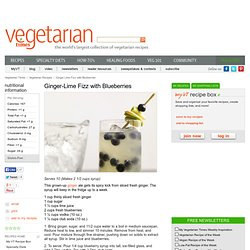 Ginger-Lime Fizz with Blueberries Recipe