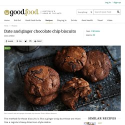 Date and ginger chocolate chip biscuits Recipe
