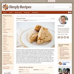 Ginger Scones Recipe