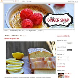 The Ginger Snap Girl: September 2011