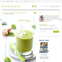 Ginger and Spinach Green Smoothie