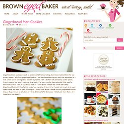 Gingerbread Men Cookies | Christmas Cookies