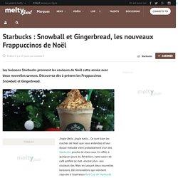 Starbucks : Snowball et Gingerbread, les nouveaux Frappuccinos de Noël