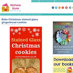 Bake Christmas stained glass gingerbread cookies