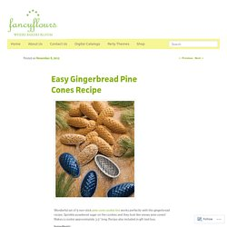 Easy Gingerbread Pine Cones Recipe